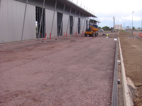 Focus groundworks package for the development of retail units. work included site strip, concrete foundations